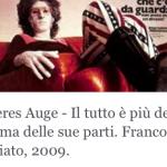 Inneres Auge – Il tutto è più della somma delle sue parti. Franco Battiato, 2009.